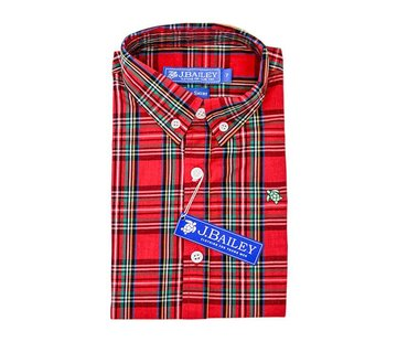 J BAILEY Tartan Plaid Button Down Shirt
