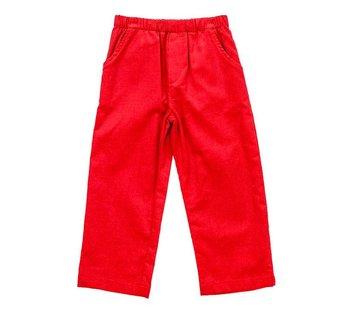 The Bailey Boys, inc Red Corduroy Elastic Pants