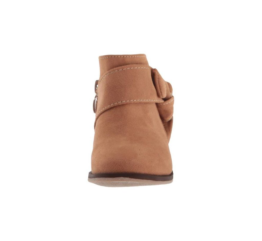Paislee Bow Bootie in Camel