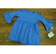 ZUCCINI CORP Basic Bell Sleeve Dress in Colonial Blue