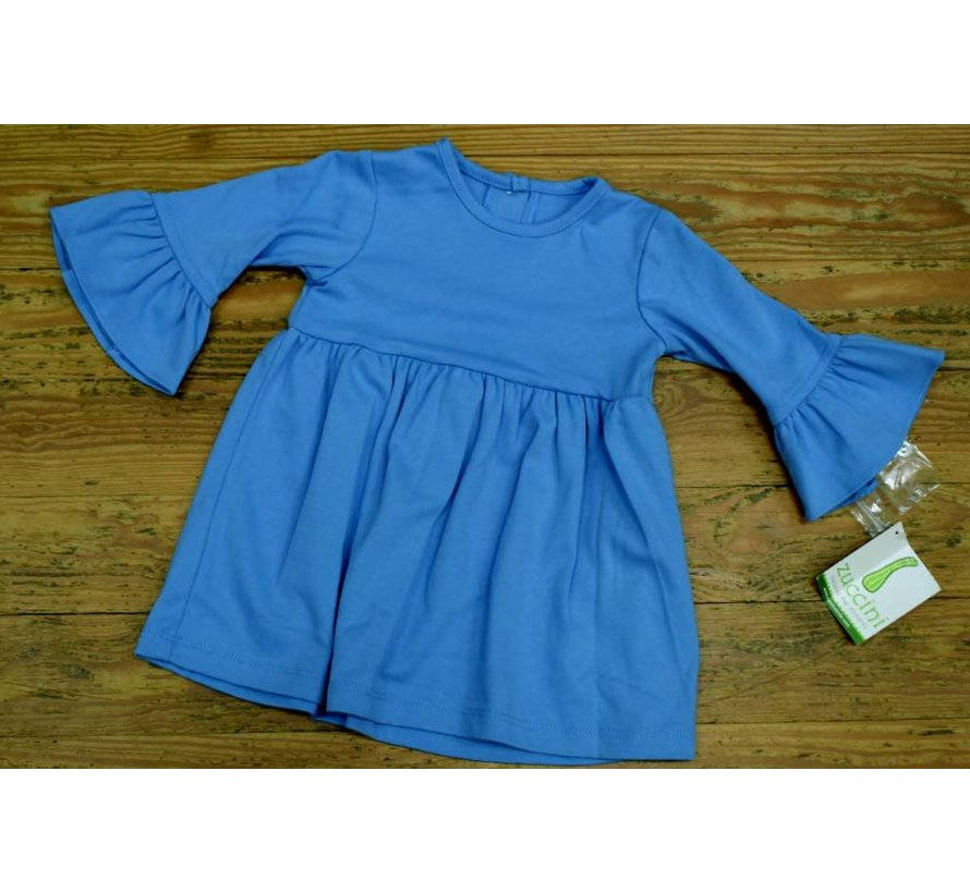 Basic Bell Sleeve Dress in Colonial Blue