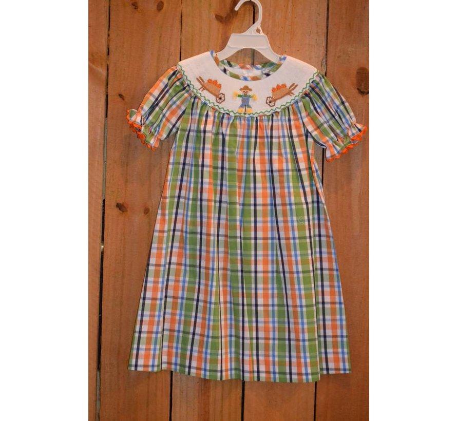 Happy Fall Smocked Bishop Dress