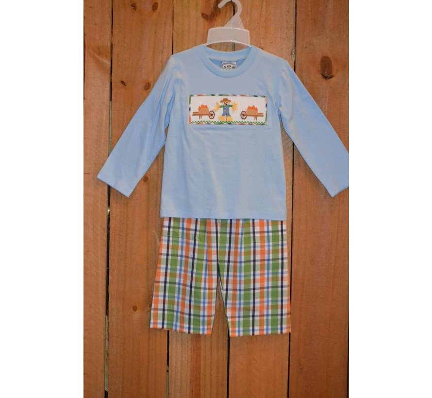 Happy Fall Smocked Boys T-shirt and Pants