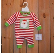 Santa Applique Boys Knit 2 piece Set