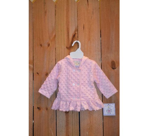 Girls Pink Minky Hooded Jacket