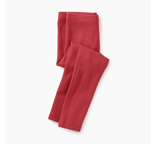 Tea Collection Pointelle Leggings in Pomegranate