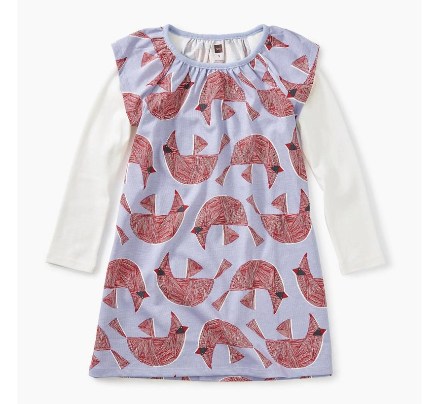 Printed Layered Flutter Dress