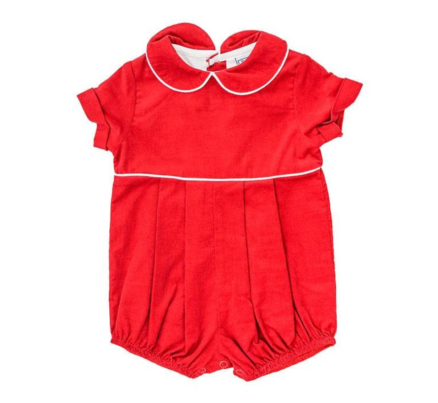Red Corduroy Dressy Bubble