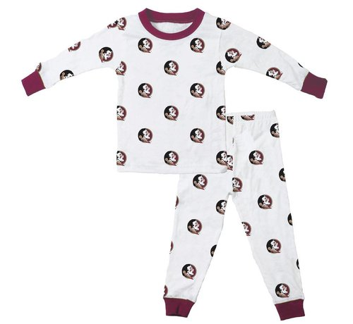 WES & WILLY FSU Allover Print  Long Sleeve Pajama