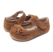 Livie & Luca Willow Mary Jane Moccasin in Camel