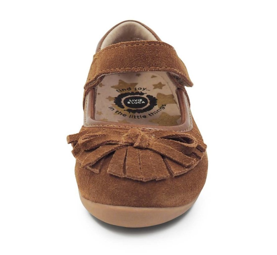 Willow Mary Jane Moccasin in Camel