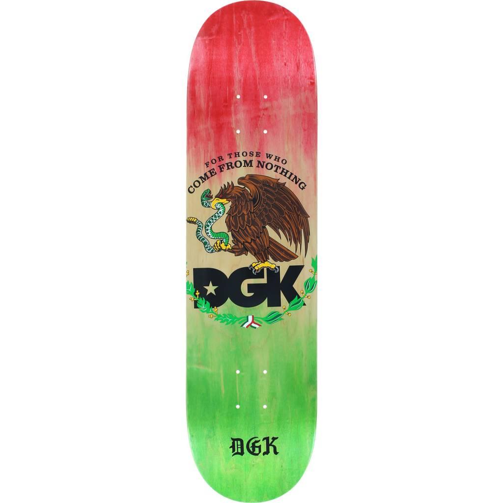 DGK Skateboards Familia Fade Green White Red Skateboard Deck