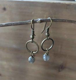 Simple Circle Drop Earrings