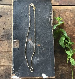 "18"" Antique Gold Ball Chain"