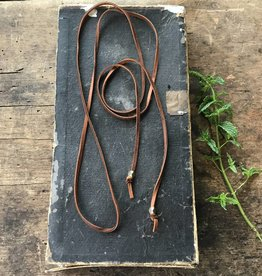 "52"" Brown Leather Wrap Necklace"