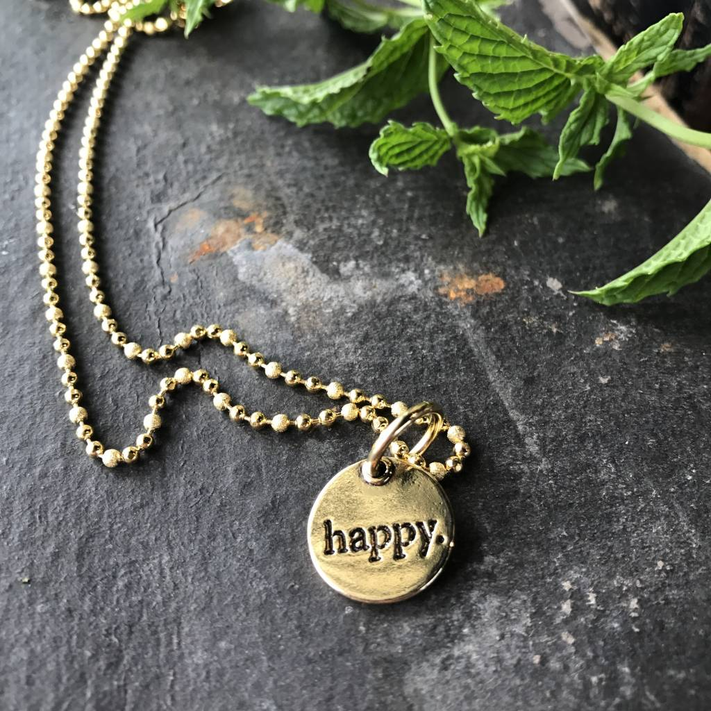 Small circle pendants happy blue small circle pendants happy aloadofball Image collections