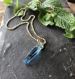 Ellipse  pendant aquamarine