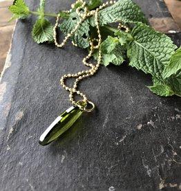 Ellipse pendant olivine