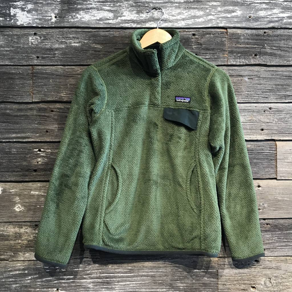 Patagonia Re-Tool Snap Fleece Pullover Buffalo Green - Blue
