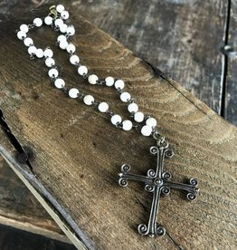 Dogwood Charm Cross Necklace