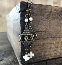 Tin Roof Cross Earrings