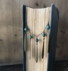 Turquoise Petal Necklace