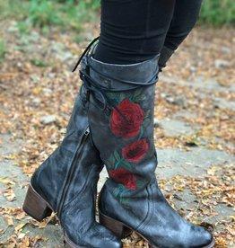 Freebird Cyrus black rose Boot