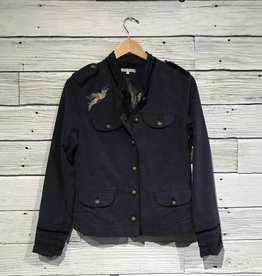 Washed Banned Embroidered Jacket