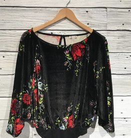Free People Velvet Slouchy Babe Bodysuit top