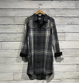 Kavu Jurnee Plaid shirt Dress