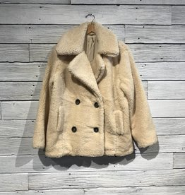 Free People Notched Teddy Peacoat