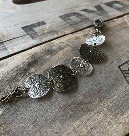 Etched Coin Bracelet