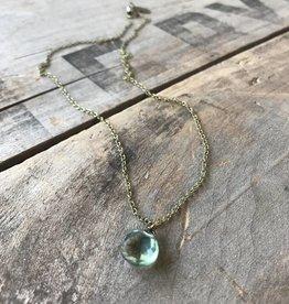 Green Quartz Drop Necklace