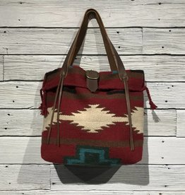 Apache Red Horse Blanket Tote