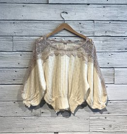 Free People Love Lace Boat Neck