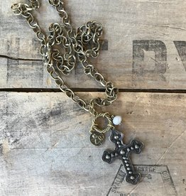 Iron Cross Cluster Long Necklace