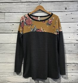 Lucky Charlie Belle Florale Knit Top