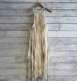 Free People Whisk Me Away Macrame Dress