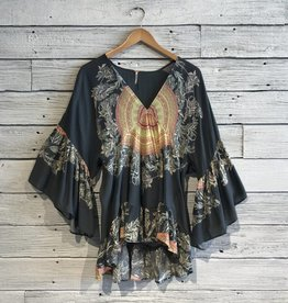 Free People Sunset Dreams Bell Sleeve Top
