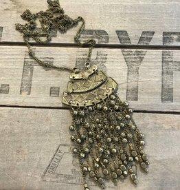 Bronze Long Pendant Necklace