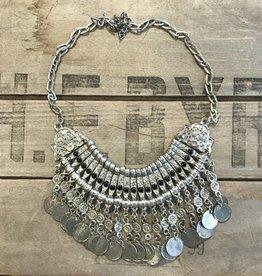 Silver Collar Coin Necklace