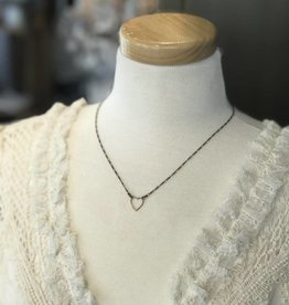 Little Brass Heart Necklace