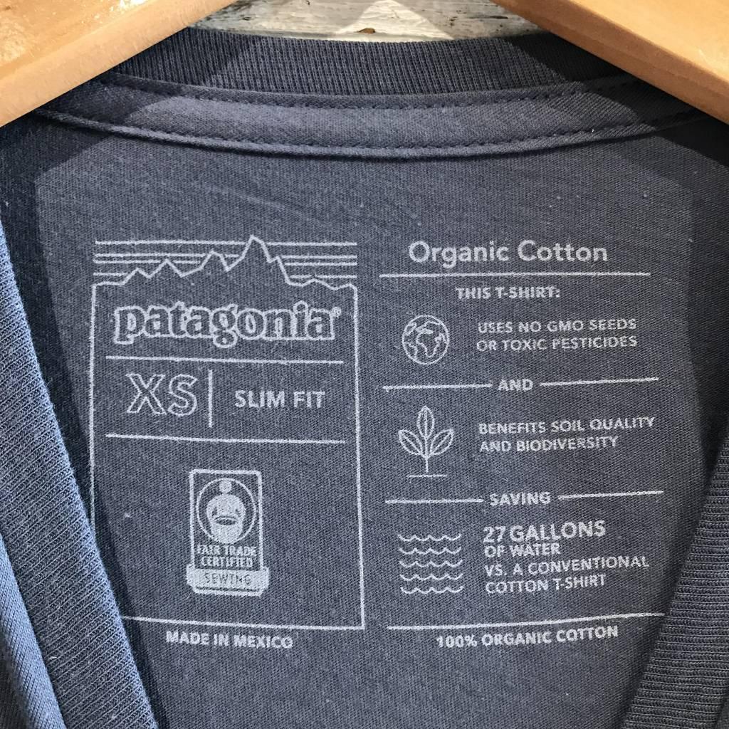Patagonia Logo Organic Tee dolomite blue