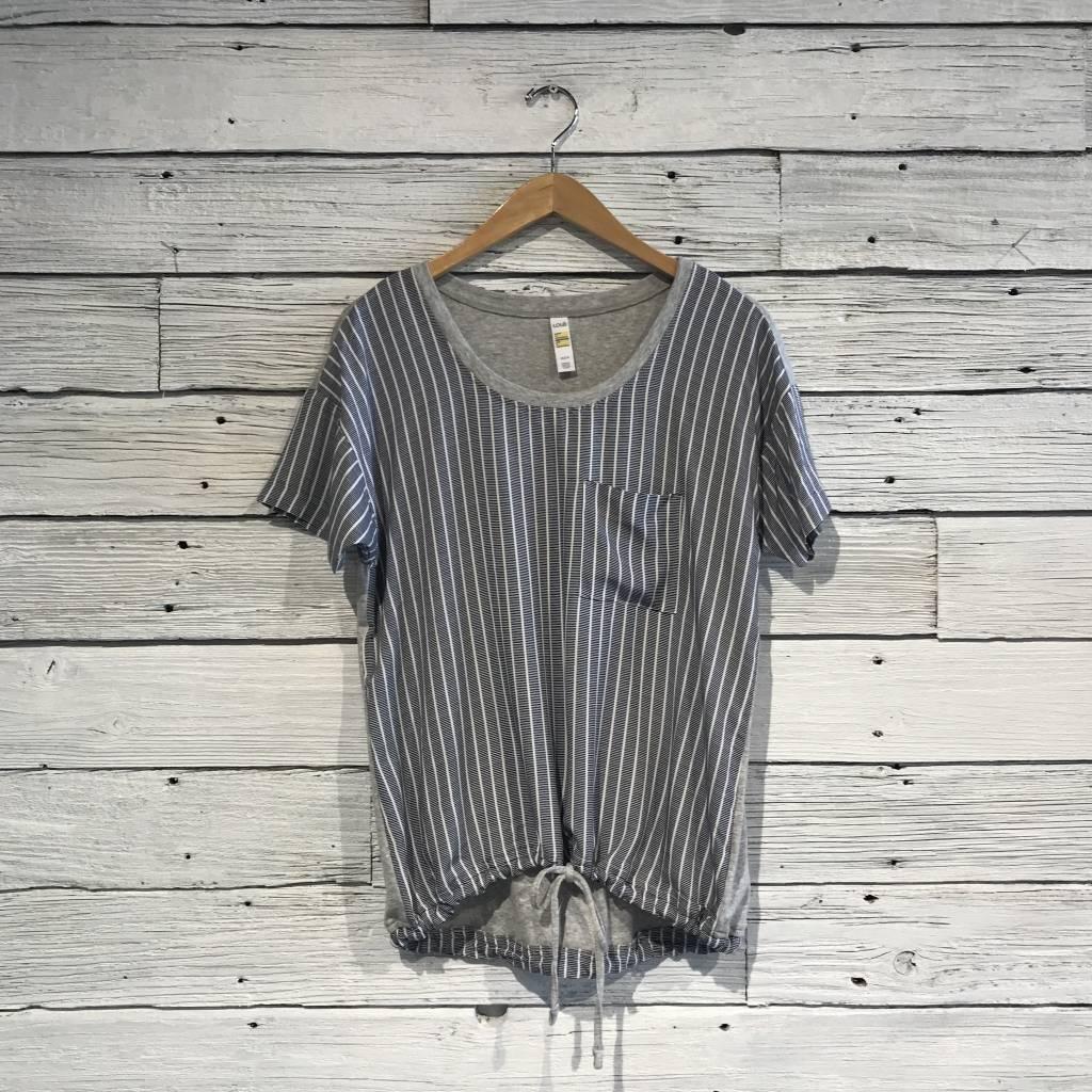 Lole Kimberly Top mirtillo textured stripes