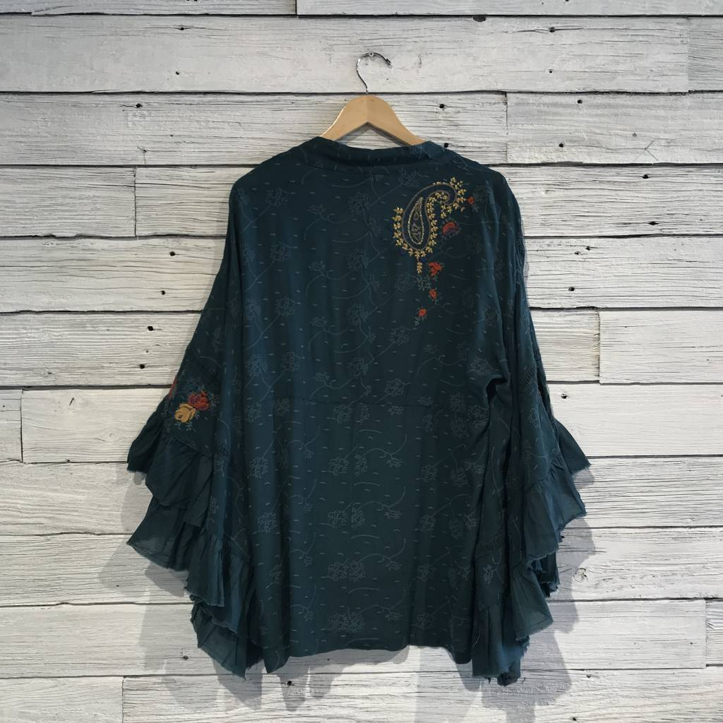Free People Dottie West Kimono ocean blue