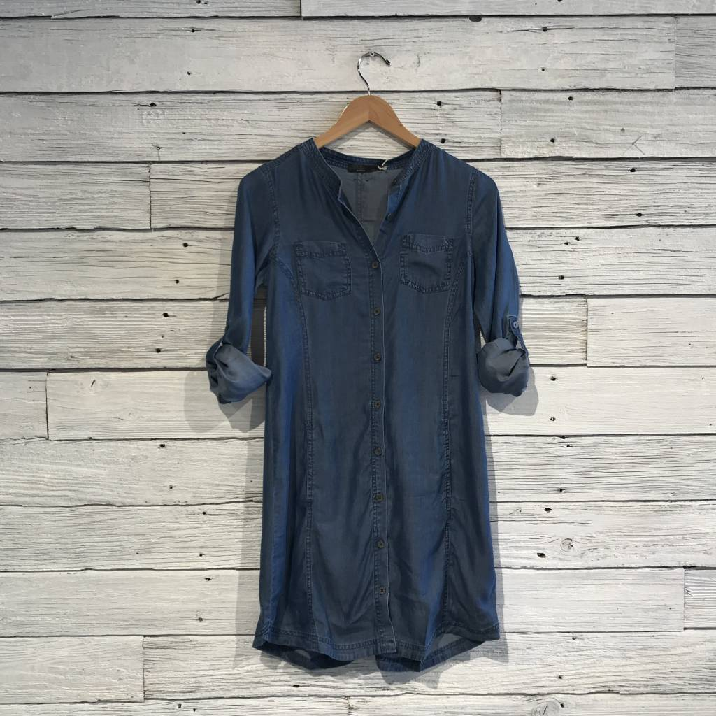 Prana Aliki Shirt Dress antique blue