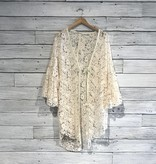 Free People Move Over Lace Cardi Ivory