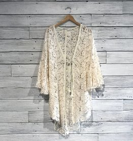 Free People Move Over Lace Cardi