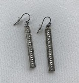 Sterling Silver Frame Earrings ES 3629