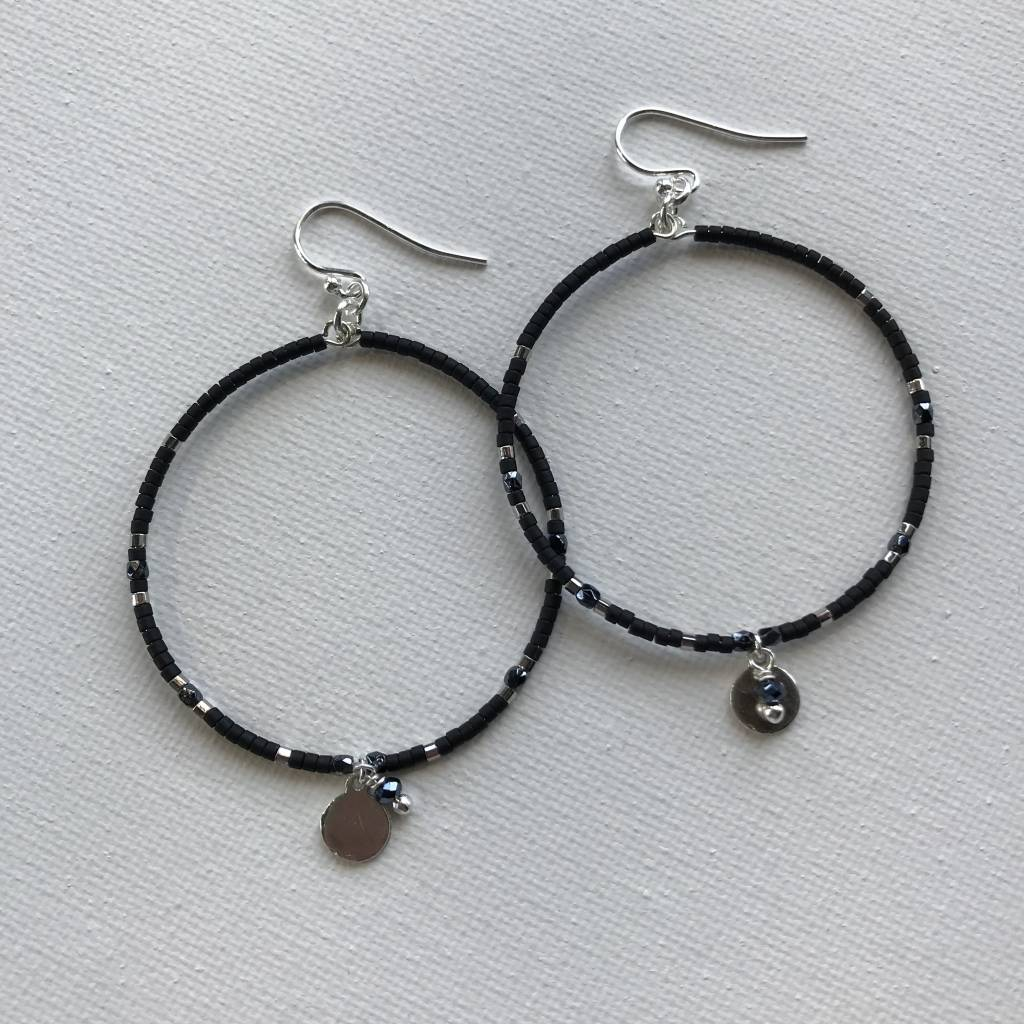 Mix Beaded Hoop Earrings ESZ 4759